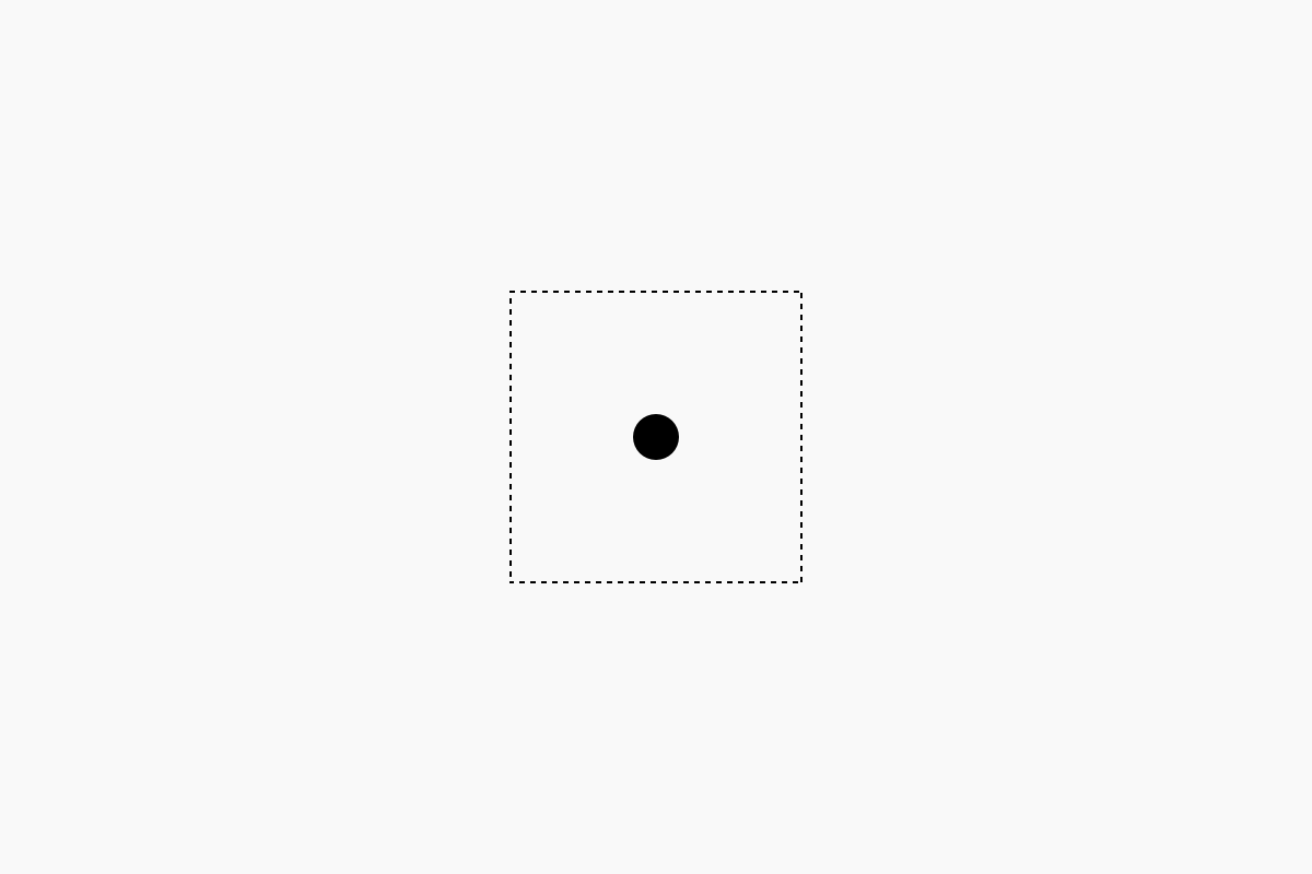 A dot inside the square