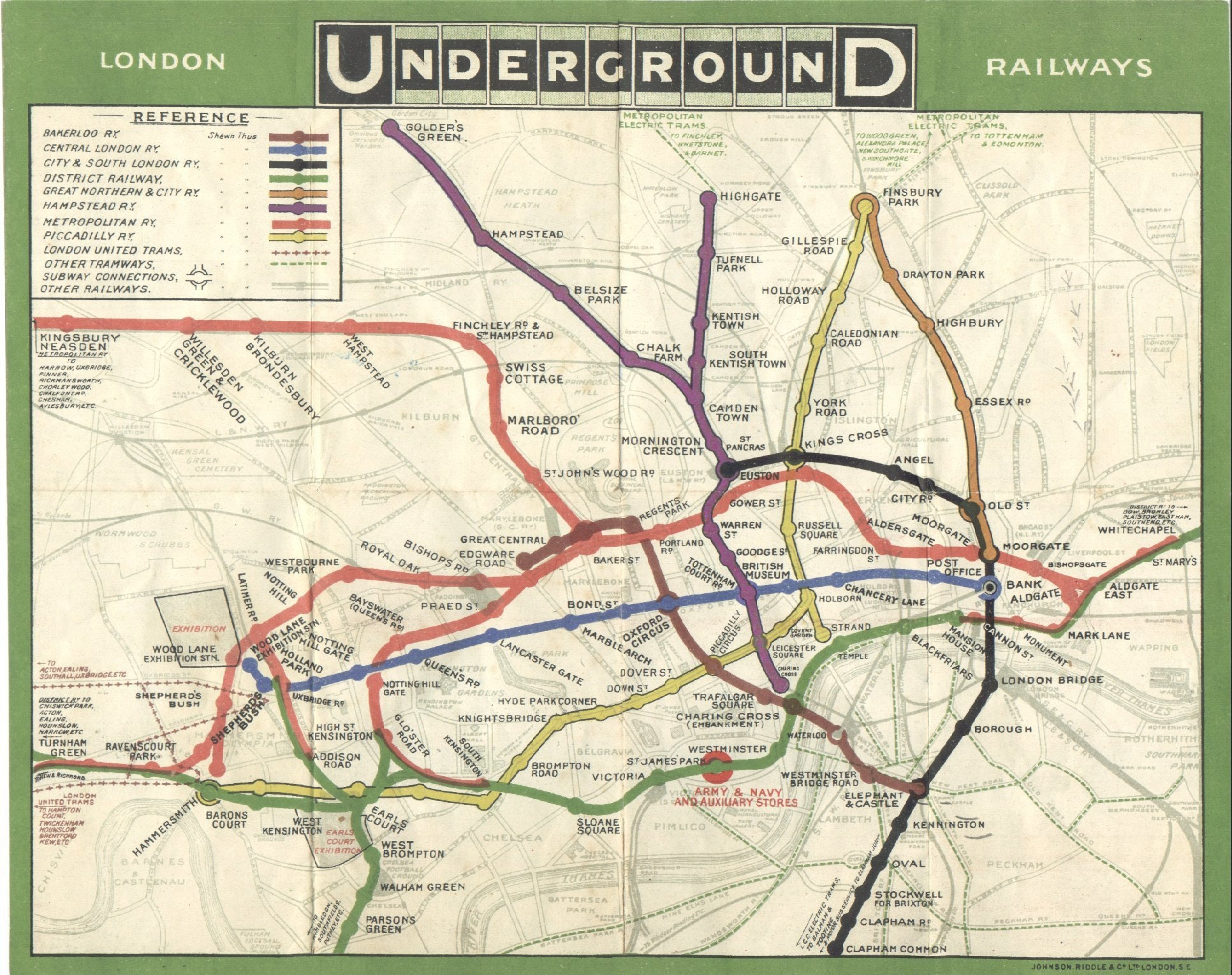 London Underground Map of 1908