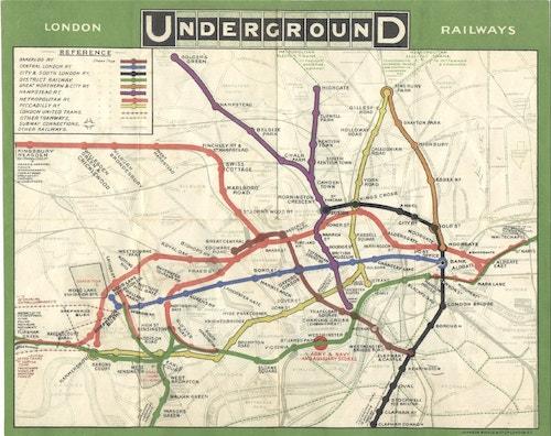 London Underground Map of 1908