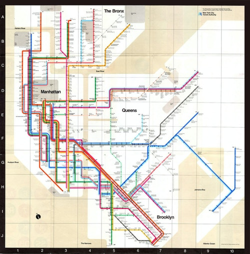 Vignelli's Subway Map of 1972