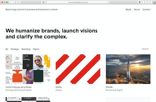 Base Design website anno 2019