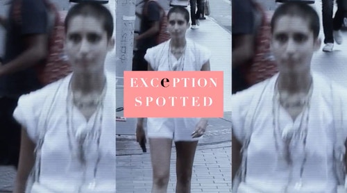 Video still reading 'Exception Spotted'