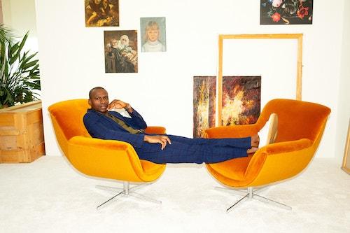 Orior pop chair orange