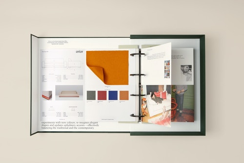 Orior new brochure branded by Base Design