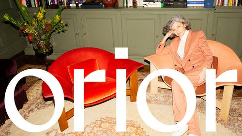 Orior logo over image of Bianca chairs