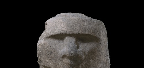 Ancient sculpture representing a man's face