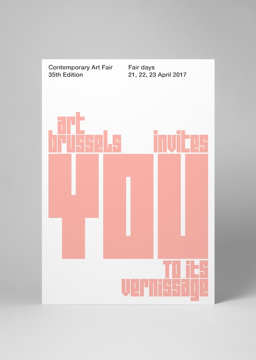 Poster inviting visitors to Art Brussels' Fair