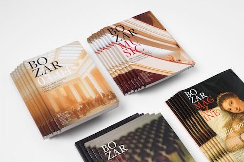 Piles of catalogues designed for Bozar