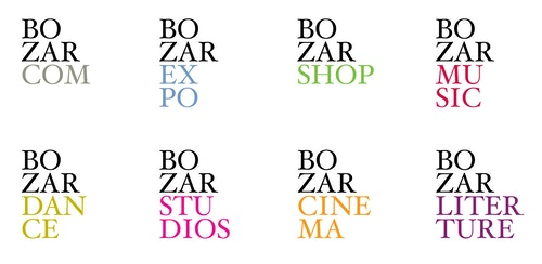 Series of logos designed for Bozar different areas