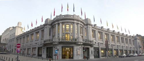 Exterior of the Bozar building in Brussels
