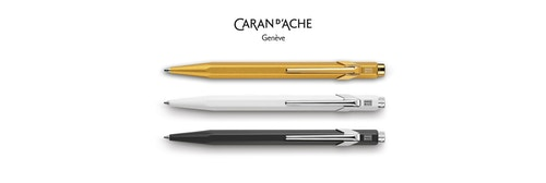 Three different branded pens from Caran d'Ache