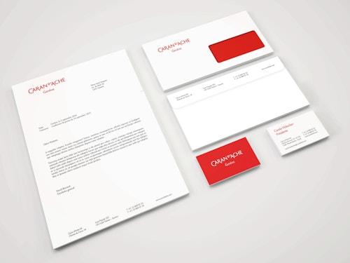 Set of printed materials designed for Caran d'Ache