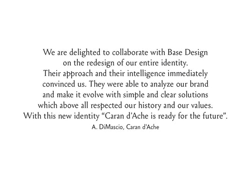 Quote from A DiMascio on the collaboration with Base Design