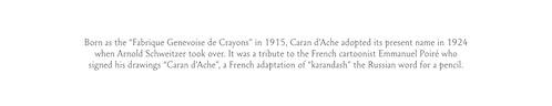 Copywriting for Caran d'Ache history