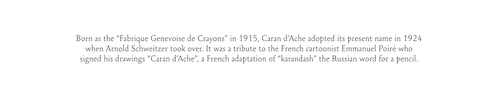 Copywriting for Caran d'Ache history