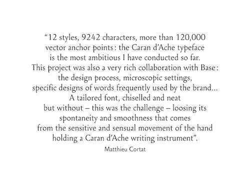 Copywriting describing the activity of Caran D'ache