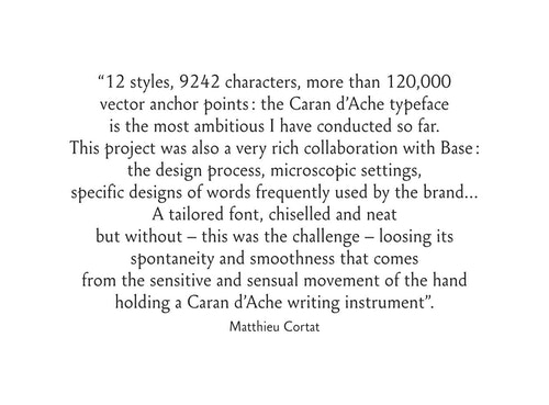 Copywriting describing the activity of Caran D'ache