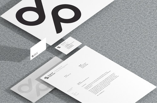 A set of printed materials designed for Degroof Petercam's communication