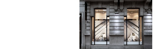 The facade of the Delvaux store