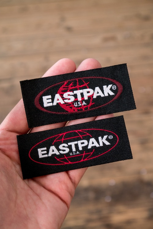 Eastpak branded labels