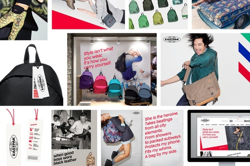 Eastpak branding collage