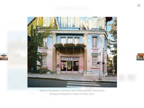 Slider of images on Fondation Cartier's website