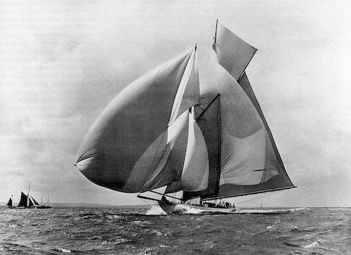 A sailboat on the sea