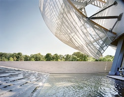 Corner of the building of Fondation Louis Vuitton