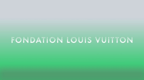 The logotype designed for Fondation Louis Vuitton