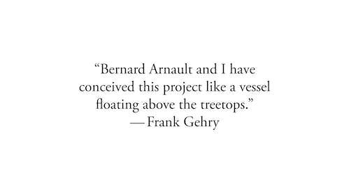 A quote by Frank Gehry on the project
