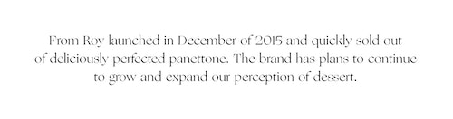 Storytelling of From Roy panettone