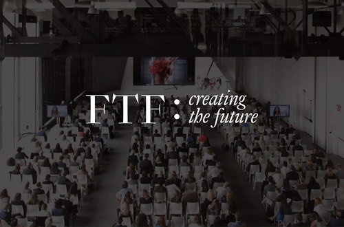The logotype designed for Ftf on a black background