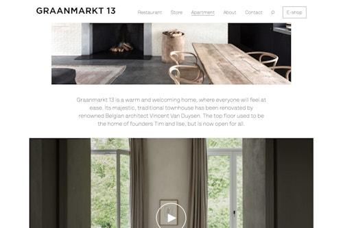 Graanmarkt 13 digital apartment simulation