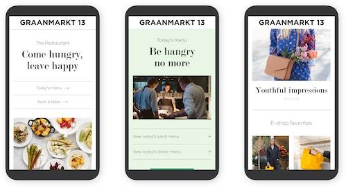Graanmarkt 13 mobile digital simulation