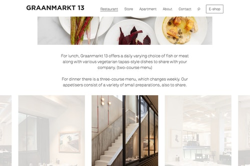 Graanmarkt 13 restaurant digital simulation