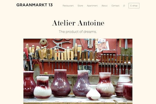Graanmarkt 13 storytelling on website