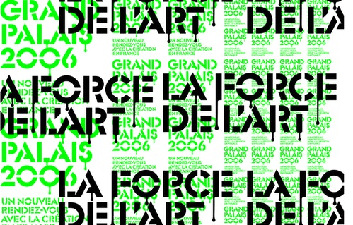 Replication of the visual designed for grand Palais communication campaign