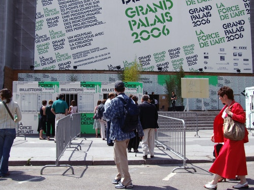A simulation of Grand Palais main posters for communication campaign