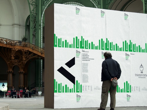 Grand Palais visual identity on interactive screen