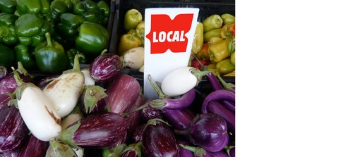 Greene Hill pricetag on vegetables