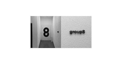 Applications of different signage designed for Group8 in their offices