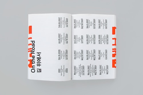Pages of the annual report designed for Gwangju branding