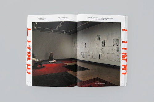 Pages with visual from the annual report designed for Gwangju
