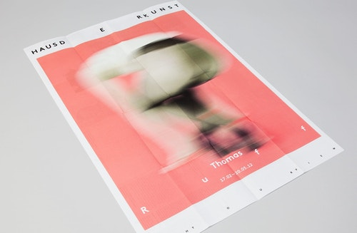 A poster designed for Haus Der Kunst