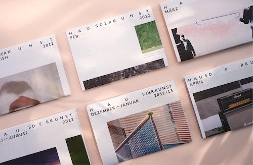 Leaflets designed for Haus Der Kunst