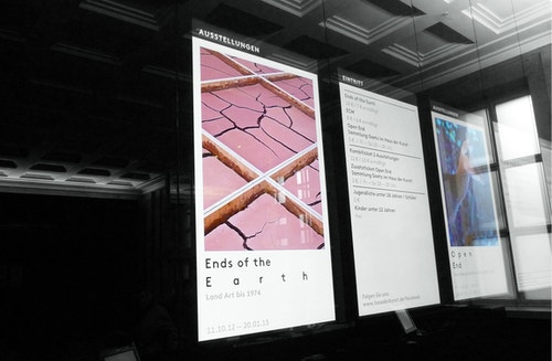 An application of Haus Der Kunst communication campaign on a screen