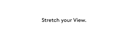 "Brand tagline of Haus Der Kunst ""Stretch your View"""