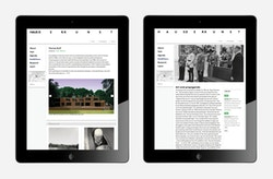 View of the website designed for Haus Der Kunst on tablet