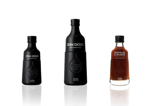 Three mat bottles of olive oil from Herdeiros Passanha