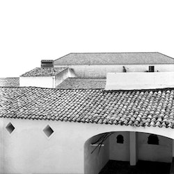View of the roof of Herdeiros Passanha's house